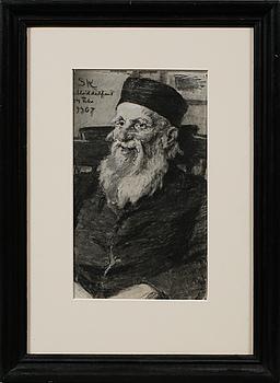 PEDER SEVERIN KRÖYER, kol med täckvitt, signerad S.K och daterad Middelfart 24. Febr 1907.