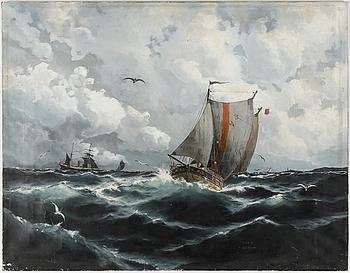 THEODOR VALENKAMPH, olja på duk, signerad och daterad -89.
