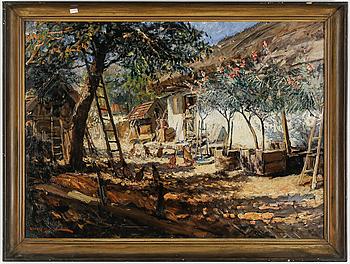 FERENC UJVARY, olja på duk, signerad och daterad 1932.