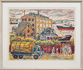 ALBIN AMELIN, färglitografi, signerad och numrerad 41/310.