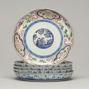 FAT, porslin, 5 st, Japan, 1900-talets första hälft.