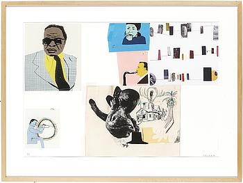 JOCKUM NORDSTRÖM, efter, gicléetryck i färg, signerat med blyerts signerad och numrerad 95, 2006.