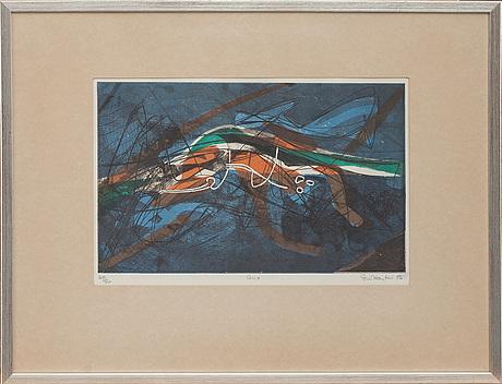 Stanley william hayter färgetsning, signerad och numrerad 49/50.