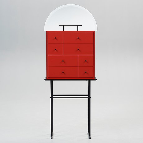 A kersti sandin & lars bülow cabinet 'hommage josef frank', executed by karl andersson & söner, sweden 1985.