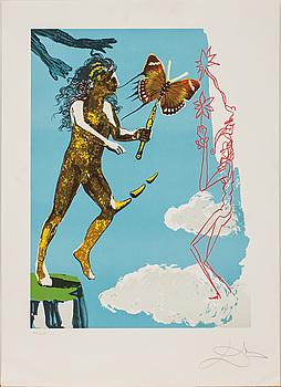 SALVADOR DALÍ, färglitografier, 2 st, signerade och numrerade 89/250.