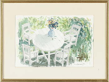HARRY WICHMANN, akvarell. Signerad och daterad -83.