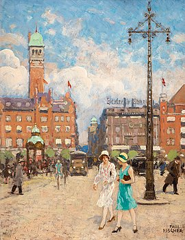 1003. Paul Fischer, City Hall Square, Copenhagen.