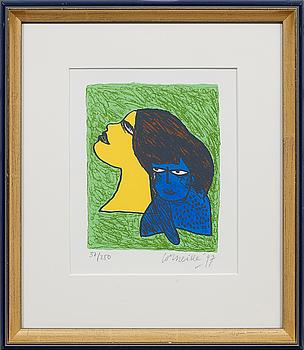 BEVERLOO CORNEILLE, färglitografi, signerad, numrerad 37/250 och daterad -97.