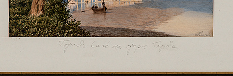 Fjodor anderejevich klages, the town salÒ by lake garda