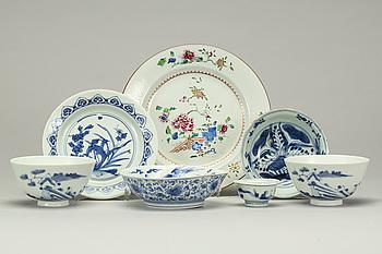 PARTI KINA OCH JAPANPORSLIN, 7 delar. Bland annat Kina 1700-tal.