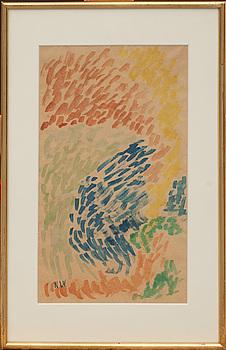 NELL WALDEN, akvarell, monogramsignerad.