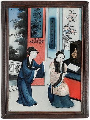 GLASMÅLNING, Kina, 1800-tal.