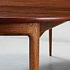 An ib kofod larsen palisander dining table, säffle möbelfabrik, sweden 1960's.