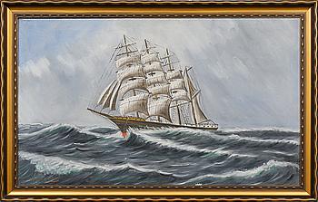 OKÄND KONSTNÄR, olja på duk, signerad Widgren, 1900-talets första hälft.