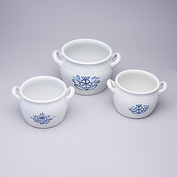 SMÖRBYTTOR, 3 st, keramik, Arabia, Finland.