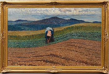 NILS KREUGER, olja på duk, signerad, daterad 1908.