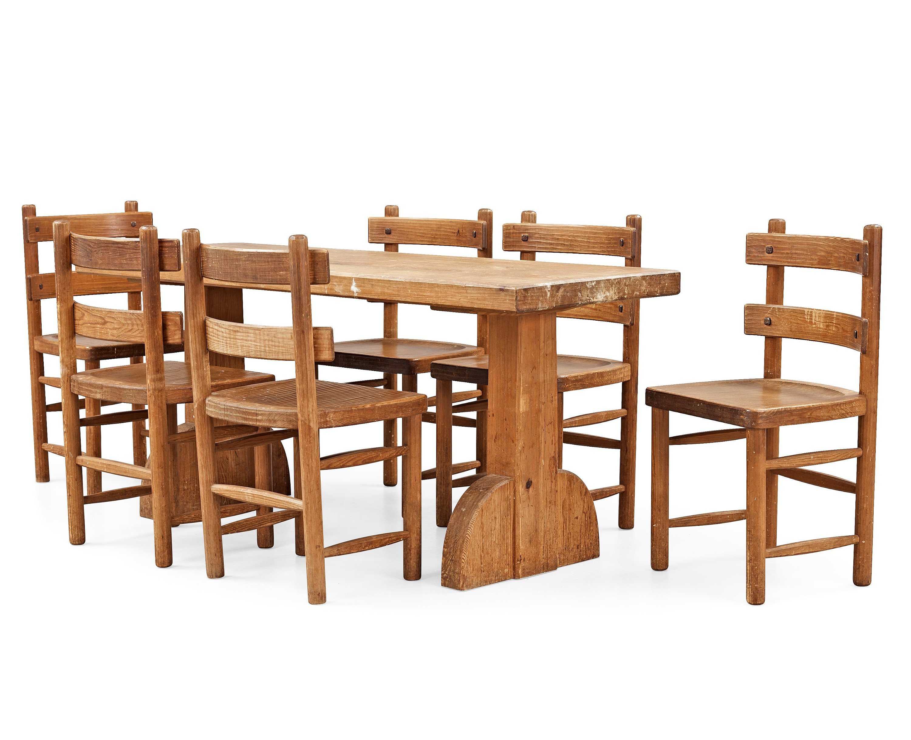 An Axel Einar Hjorth Stained Pine Dining Set U0027Sandhamnu0027, Nordiska  Kompaniet, Sweden 1931 33.   Bukowskis