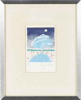 JAMES ROSENQUIST, färglitografi, signerad, numrerad 62/70 och daterad 1971.
