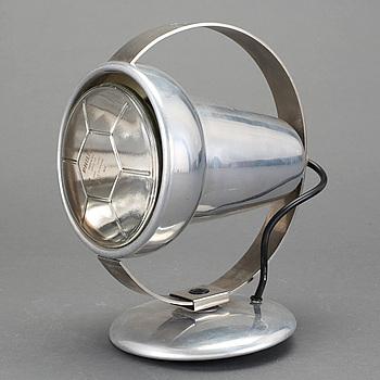 BORDS-/VÄGGLAMPA, aluminium/krom, Philips, 1950-60-tal.