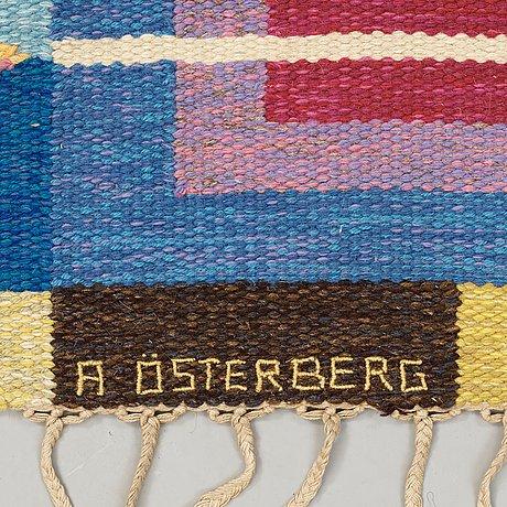 Matta. rölakan. 215 x 150,5 cm. signerad a österberg.