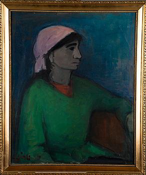 OLAVI LAINE, olja på duk, signerad och daterad -56.