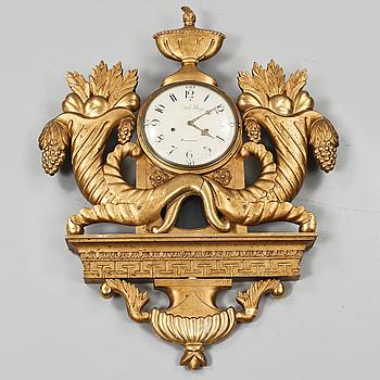 VÄGGPENDYL, empire, Nils Berg (verksam 1757-1794) Stockholm, 1800-talets första hälft.