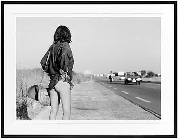 """TONY LANDBERG, fotografi, """"Vägflicka, Italien 1972"""","""