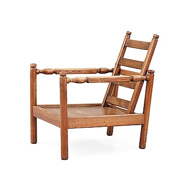 504. An Axel Einar Hjorth stained pine 'Sandhamn' armchair, Nordiska Kompaniet 1929.