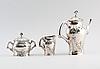 Kaffeservis, 3 delar, nysilver, gab, jugend, tidigt 1900-tal.