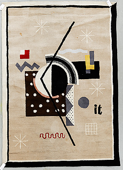 """MATTA, """"Jazz"""". Tuftad, signerad it (tillverkad efter Ingegerd Torhamns design). Ca 247x172 cm."""