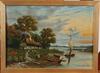 Sandahl, g. olja på duk, 2 st. sign o dat 1905.