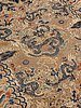 Carpet. antique silk china relief. 256,5 x 158 cm. late qing dynasty (1644–1911).
