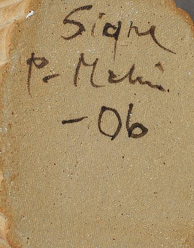 Tekanna, stengods, signe persson melin, signerad och daterad 06