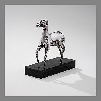 BJÖRN WECKSTRÖM, BJÖRN WECKSTRÖM, SCULPTURE. Hydraulic horse. Lapponia, signed BW, 1981. Numbered 14/25.