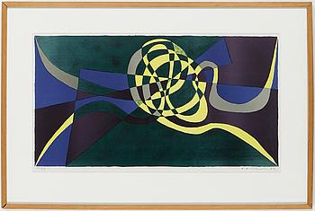 KARL AXEL PEHRSON, färgitografi signerad, daterad -54 och numrerad 32/45.