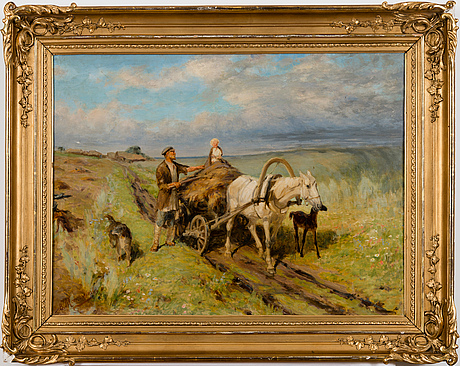 Vasili maksimovich maksimov, summer day in the field