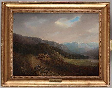 Gustaf wilhelm palm, norwegian mountain landscape.