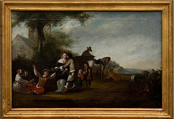 OIDENTIFIERAD KONSTNÄR, olja på duk, osignerad, Flandern 1700-tal.