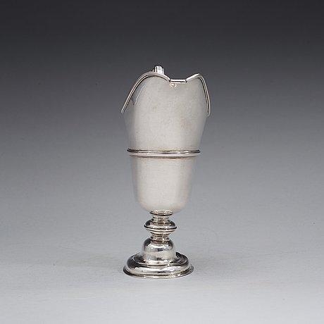 A swedish 18th century silver ewer, marks of johan lund, stockholm 1722.
