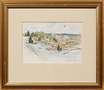 GUNNAR BRUSEWITZ, akvarell, signerad och daterad -95.