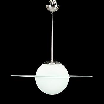 """TAKLAMPA, """"Saturnus"""", 1900-talets andra hälft. Höjd ca 65 cm."""
