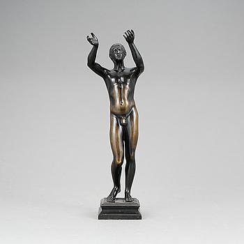 SKULPTUR, patinerad brons, Aktiengesellschaft Gladenbeck & Sohn, Berlin, tidigt 1900-tal.