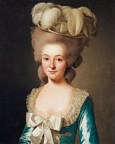 "Alexander roslin, portrait of a french lady, (called ""mademoiselle de bionville"")."