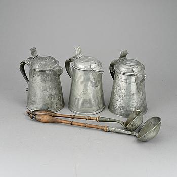 PARTI TENN, 5 delar, 1800-tal.