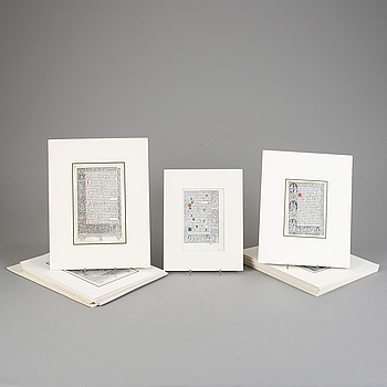 BOKSIDOR, 35 st, pergament samt papper, 1500-tal.