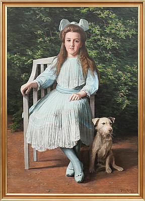 JOHAN KROUTHÉN, olja på duk, signerad och daterad 1909.
