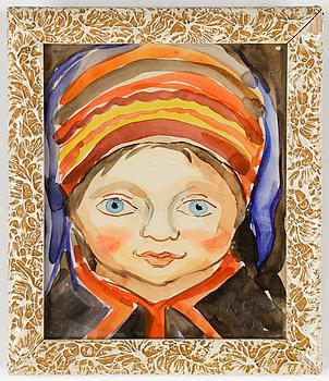 ALVAR OUTAKKA (ALVAR LIND), akvareller, 2 st, signerade och daterade 1944.