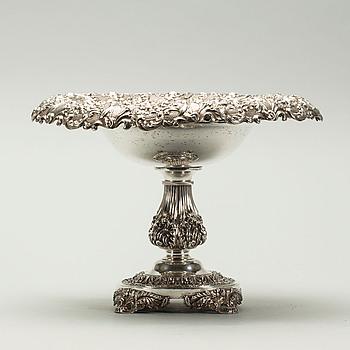UPPSATSSKÅL, silver 1840, Fredrik och Wilhelm Zethelius, vikt 980 g.