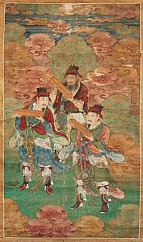 10. A hanging daoist Shuilu-scroll by an anonymous artist, Qing dynasty, 18th century.