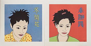 MARIA MANUELA VINTILESCU, 2 st, färgserigrafier, signerade och numrerade 86/125.
